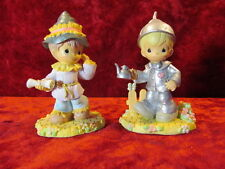 2003 Enesco Precious Moments Wizard of Oz Tinman and Scarecrow Figurines
