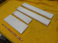4 pc LOT of DELRIN FLAT BAR machinable plastic stock acetal 1/2