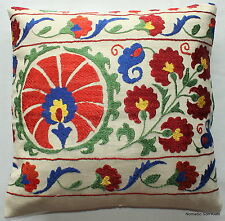(40*40cm, 16inch) Genuine silk Uzbekistan hand embroidered cushion cover 5