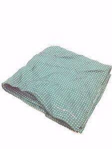 $125 Tommy Hilfiger Men`S White Green Polka Dot Handkerchief Dress Pocket Square