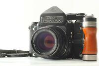 【NEAR MINT+++】 Pentax 6x7 TTL Mirror Up + SMC T 105mm f/2.4 + Grip From JAPAN