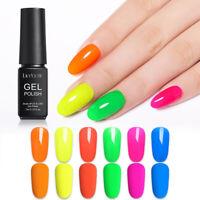 LILYCUTE 7ml Neon Fluorescent Gel Polish Soak Off UV Gel Nail Art Gel Varnish 6