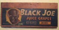 VINTAGE 1950S CRATE LABEL BLACK JOE JUICE GRAPES ELKHORN FRUIT CO LODI CA.