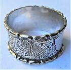 NO RESERVE HM1907 Sterling Silver Napkin Ring 24g Vintage Antique