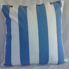 Cushion Cover Large Blue White Stripe Euro Pillow Sham Daybed Sofa Floor Outdoor