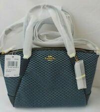 NWT NEW COACH Legacy Jacquard Mini Kelsey Satchel Bag Purse 27574 Blue Tan Khaki