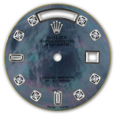 REFINED MENS W-GOLD DAY-DATE BLUE TAHITIAN MOP 8+2 DIAMOND DIAL FOR ROLEX-36