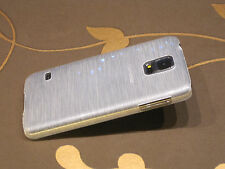 Samsung Galaxy s5 funda protectora estuche duro plata cristal (d1s)