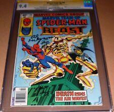 Marvel Team-Up #90 CGC SS 9.4 SIGNED Al Milgrom Bob McLeod Vosburg Marvel 1980