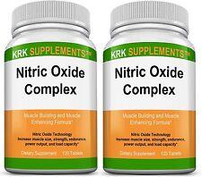 2x Nitric Oxide 3500mg L-Arginine AAKG AKG L-Citrulline Alpha-KetoGlutarate