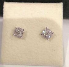 Natural Diamond Round White Gold Fine Earrings
