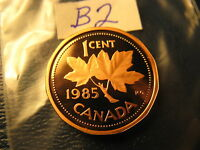 Canada 1985 Proof Like Gem Penny From Mint Set ID#B2.