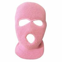 Beanie Cap Winter Ski Mask Face 3 Hole Sports Boy Girl Teenager Ear Warmer Hat