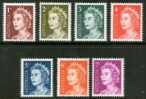 Australia 1966-71 Queen Elizabeth II Definitives set of 7 MUH