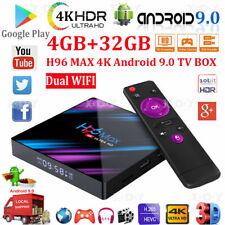 H96 Max Android 9.0 Smart Tv Box 64 Bit Quad Core 4K Ultra Hd WiFi 4gb Ram 32gb