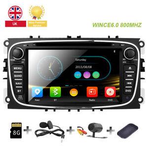 "7""Ford Mondeo Focus S-max Galaxy Car DVD Player Radio Bluetooth GPS Stereo Black"