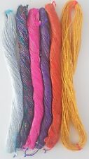 6 x 16 metre skeins of Twisted Metallic Thread Hand Embroidery Couching Quilting