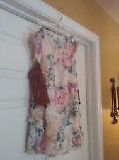 Rue 21 Women's Skirt/Tube Dress M Floral Lace Multi Color Lined W/Belt