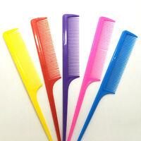 10X Rat Tail Tint Pinsel Kunststoff Styling Kamm Haar Pick Griff Friseur BC