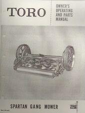 TORO SPARTAN Gang Reel Lawn Mower GENERAL Tractor Implement Owner & Parts Manual