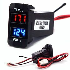 LED Digital Voltmeter Voltage Thermometer Monitor For Toyota Tacoma Tundra 32x23