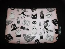Ipsy October 2016 Valfrie Black Magic Halloween  Makeup Bag Pink Cat Witch ghost