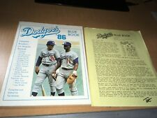 1986 Los Angeles Dodgers Baseball Blue Book by Tot Holmes