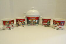 Campbell's Soup Tureen & Four Soup Mugs 7piece set featuring the Campbell Kids