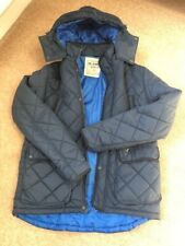 Voi Jeans Quilted Jacket with Hood - Navy Blue