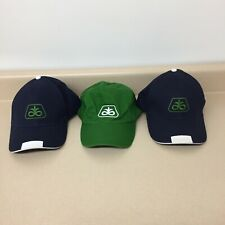 Lot Pioneer Seed Dupont Cotton Hat Cap Adjustable Strap 3 Hats Green Blue