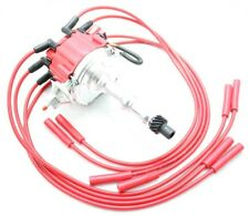 Red HEI Distributor Coil 8.5mm Spark Plug Wires 1975-81 Pontiac 301 350 400 455