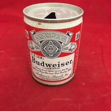 Budweiser empty Beer can, 8 OZ - steel, pull tab