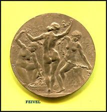 Médaille FLORE LES TROIS GRACES Nues par Dedieu bronze