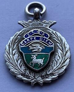Silver Fob E.C.C.S CARPE DIEM 1928 10.24 grams