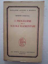 I programmi per le scuole Elementari di Ernesto Codignola anno 1956