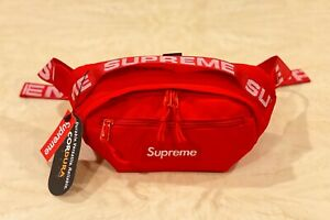 Brand New Supreme Red Waist Bag Shoulder Bag Fanny Pack Unisex