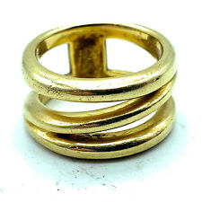 Tiffany & Co. Italy 18k Yellow Gold Fancy Wide Open Band Ring Sz. 6.5