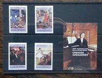 Grenada Grenadines 1984 Anniversary Edgar Degas Painter set Miniature Sheet MNH
