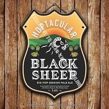 Black Sheep Bitter Beer Advertising Bar Pub Metal Pump Badge Shield Steel Sign