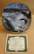 Bradex 1993 Niagra Falls Thundering Waters Frank D Miller Collector Plate w/Coa