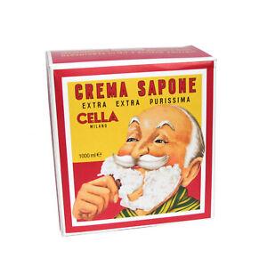 Cella Shaving Cream Almond Soap Block - 1kg Lather Use with Shaving Brush Soap