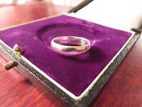 Schlichter 925 Silber Ring Unisex Einfach Sterling Ohne Schnickschnack Modern