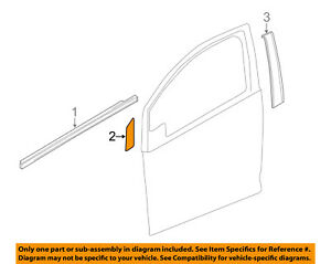 Chevrolet GM OEM 13-15 Spark Front Door-Black Out Tape Right 95181806