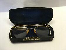 Vintage 10K Gf Gold Filled Glasses w Case Unknown Stamp