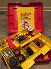 Vintage Mecanno Erector Set Power Tool 1974 Highway Multikit