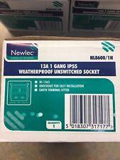 Newlec 13A 1 Gang IP55 Weatherproof Unswitched Socket NEW