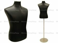 Male Black Cover Dress Body Form Mannequin Display #Jf-33M01Pu-Bk+Bs-04