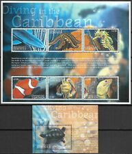 "DOMINICA - 2001 MNH ""Diving In The CARIBBEAN"" Two Souvenir Sheets !!"