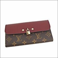 Unused LOUIS VUITTON Wallet Portefeuille Venus Monogram Canvas Raisin M61852 (S)