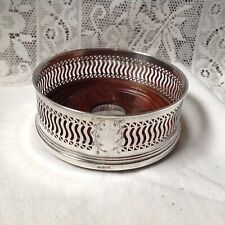 Birmingham 1992 Solid Silver Bottle Coaster By Broadway & Co. Boxed. 154.4g
